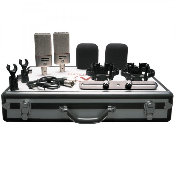 Das Austrian Audio Dual Set Plus inkl. Koffer von oben