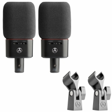 Die Vorderansicht der Austrian Audio OC18 Live Set Mikrofone in Schwarz