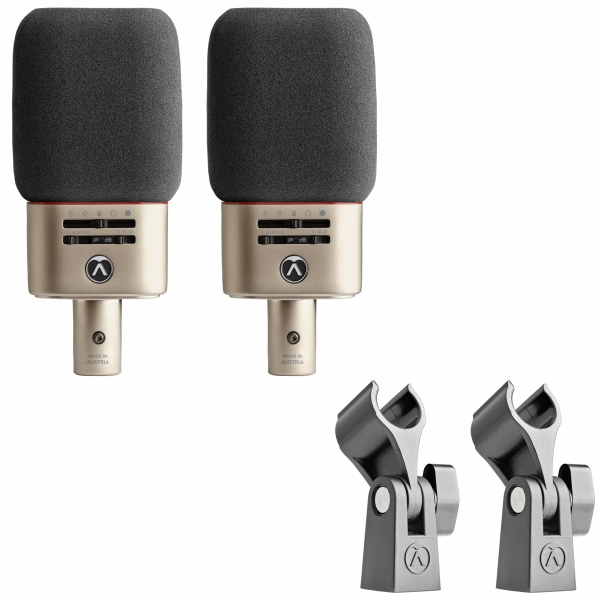 Das Austrian Audio OC818 Lice Set umfasst zwei Großmembran-Mikrofone