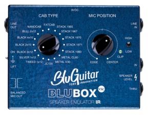 Die Blubox ist ein Speaker Emmulator auf Basis echter Gitarrenlautsprecher