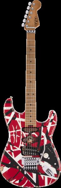 Die Vorderseite der EVH Frankie E-Gitarre