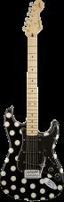 Die Vorderseite der Buddy Guy Stratocaster von Sound of Music im Polka Dot Style