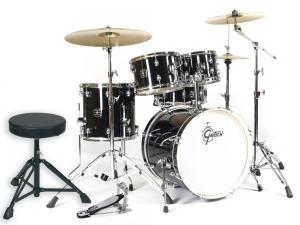 "Gretsch Energy Kit 20"" Black & Cymbals"