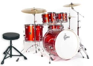"""Gretsch Energy Kit 20"""" BD Red & Cymbals"""