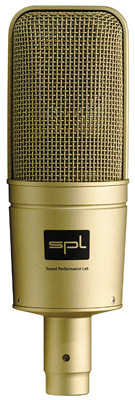 Das SPL Nugget Kondensatormikrofon in Gold