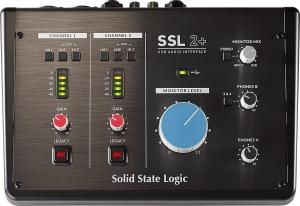 Das Interface mit MIDI von SSL in der Vorderansicht