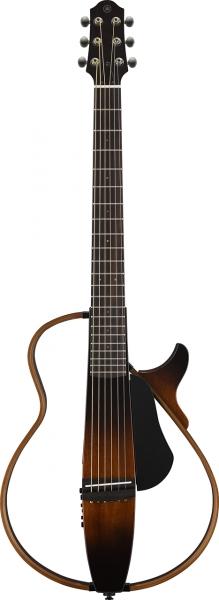 Yamaha Silent Guitar mit Stahlsaiten in der Farbe Tobacco Brown Sunburst