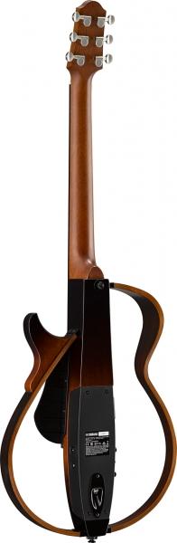 Yamaha Silent Guitar mit Stahl Saiten in der Farbe Tobacco Brown Sunburst