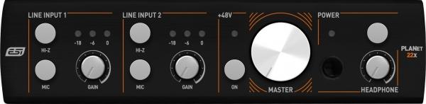2 Kanal Audio Interface mit Dante Schnittstelle