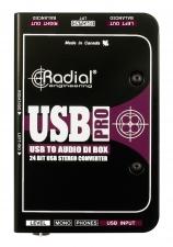 Professionelle aktivge DI-Box mit integrierter USB-Schnittstelle